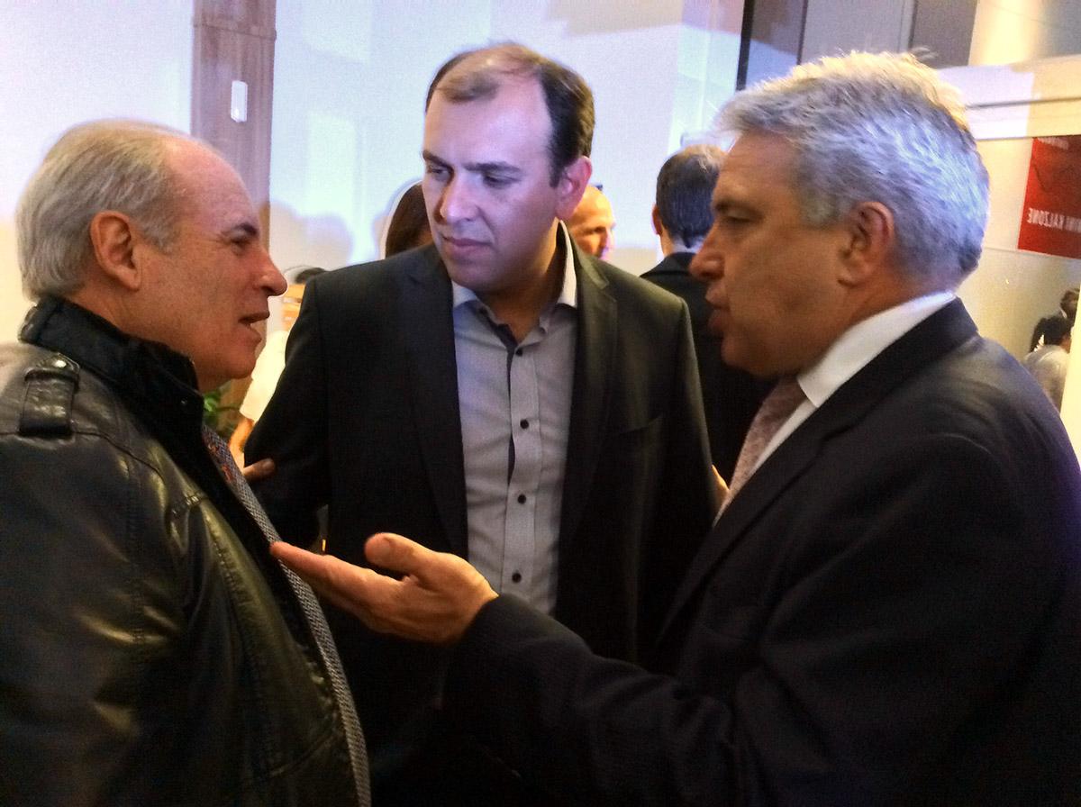 Eduardo Gribel, Fabrício Rodrigues Amaral, COO - Chief Operation Officer, da Tenco e Marco Antônio Togni.