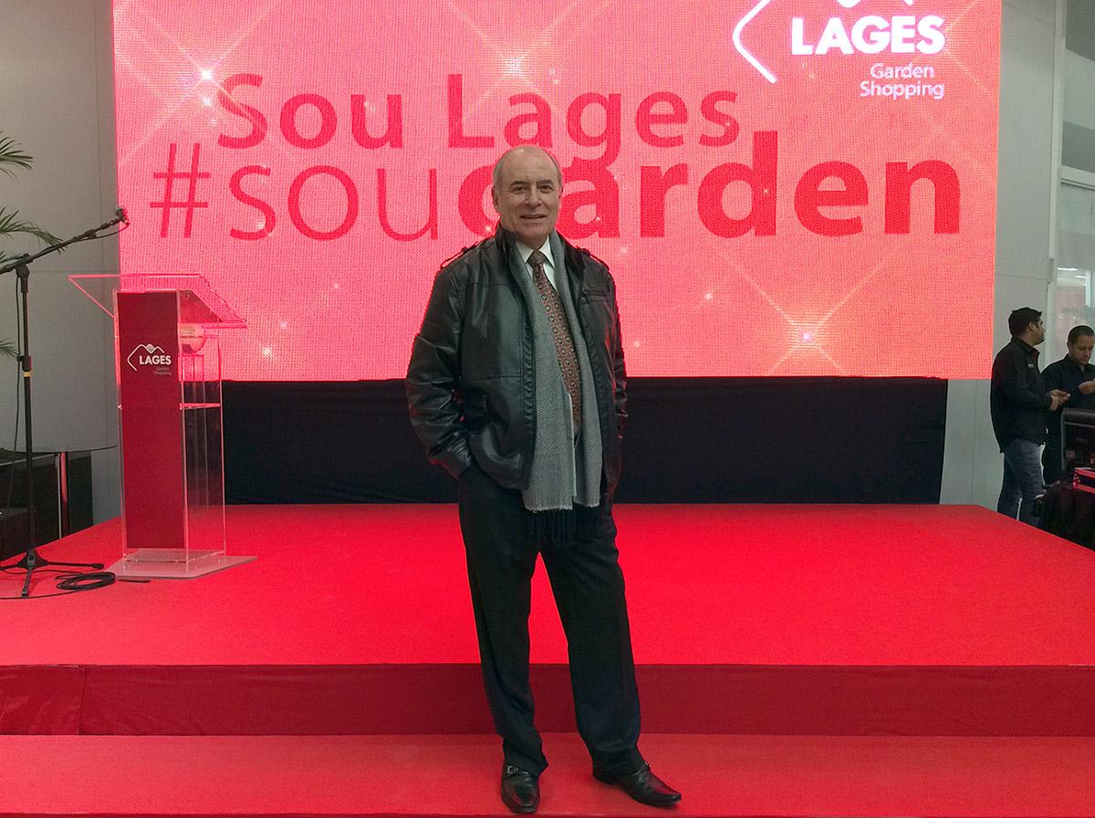 Marco Antônio Togni no evento de inauguração do Lages Garden Shopping em Lages, SC.