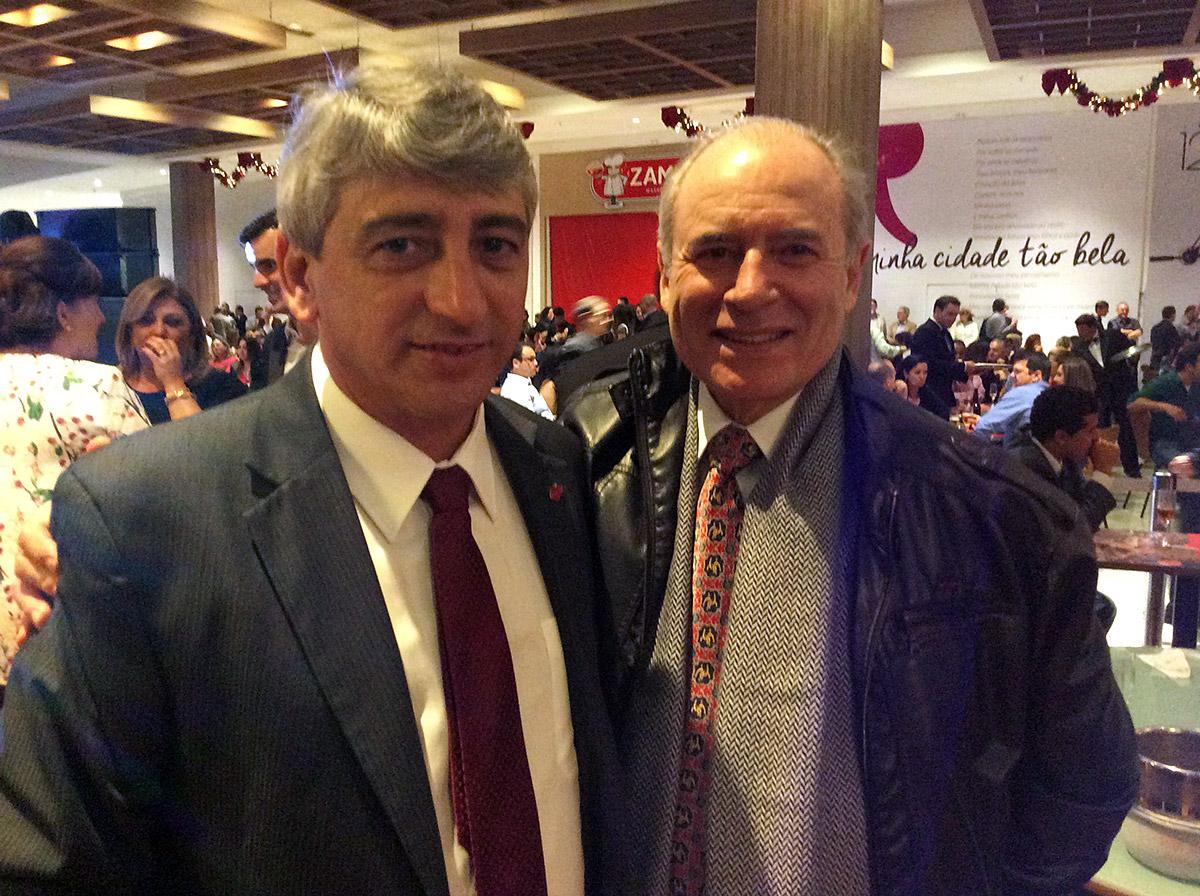 Paulo Teixeira, Superintendente do Lages Garden Shopping e Marco Antônio Togni