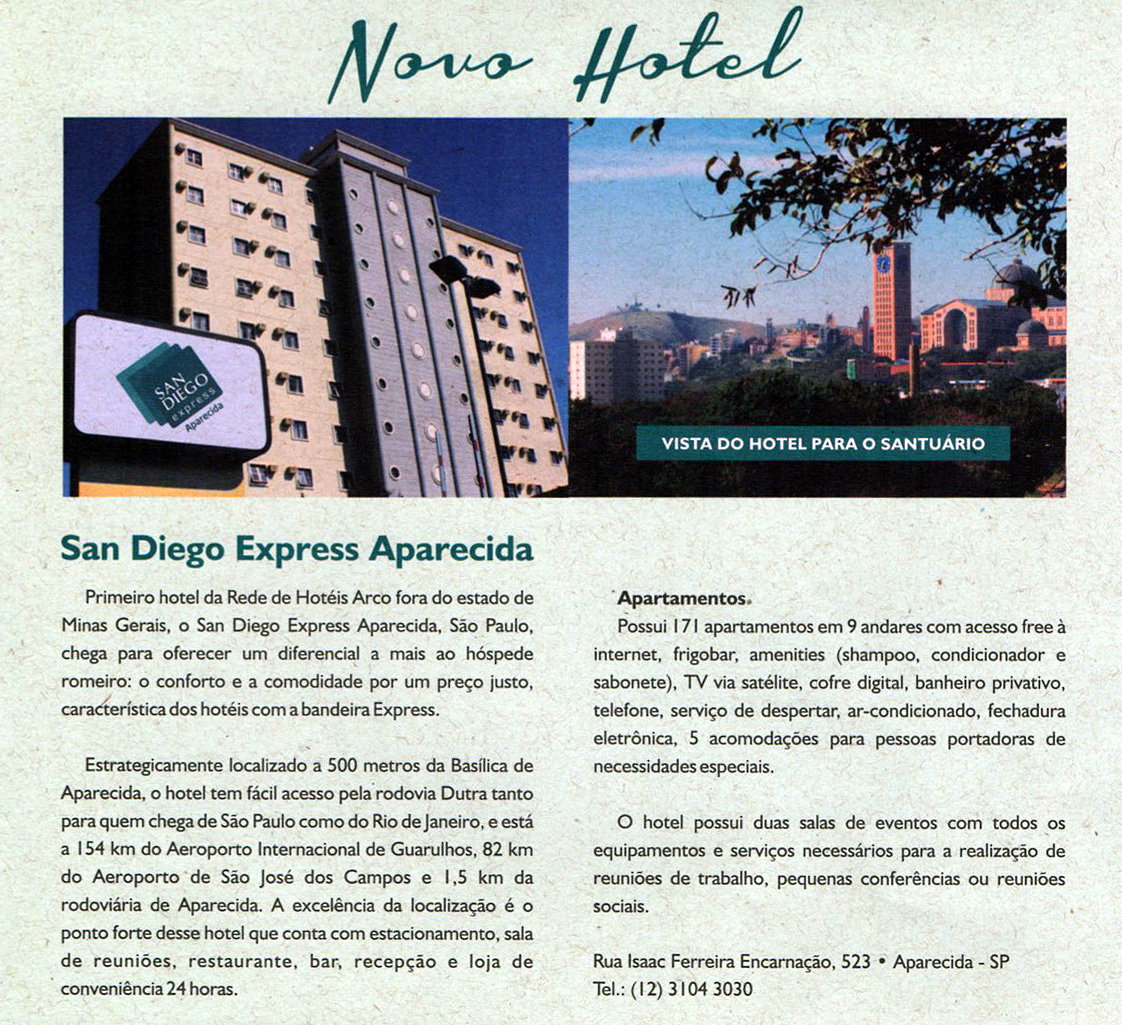 Matéria publicada no jornal Hotéis Arco - hoteisarco.com.br